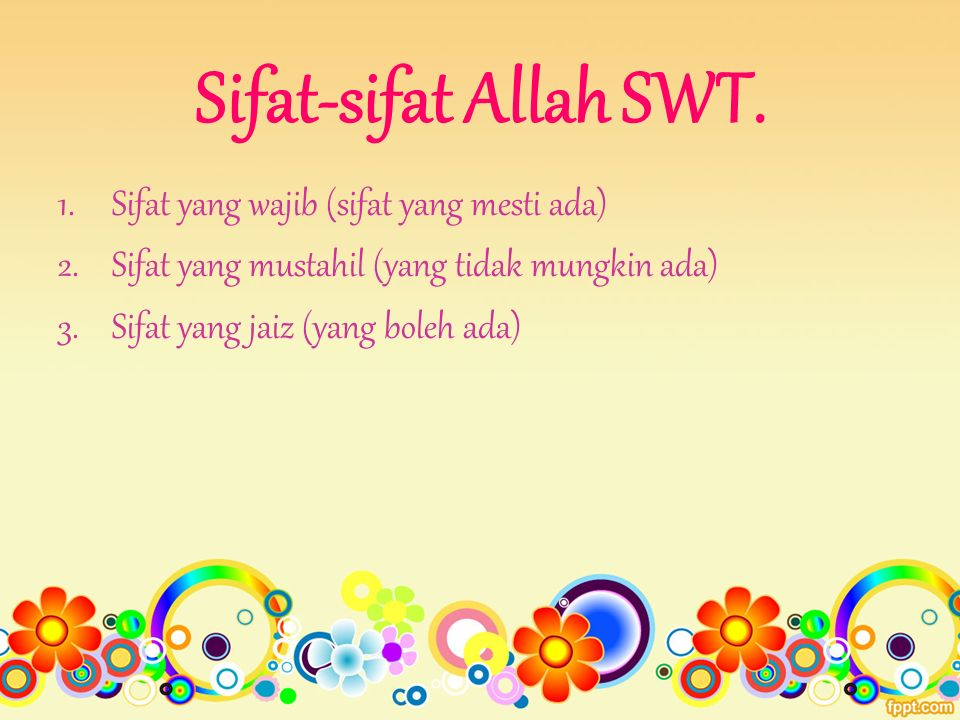 Sifat-sifat Allah SWT.