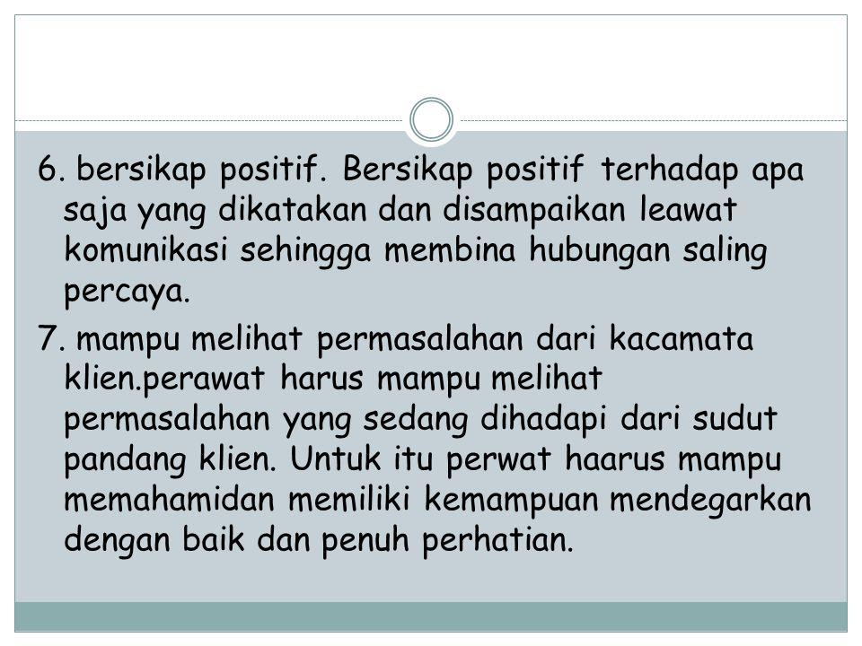 6.bersikap positif.