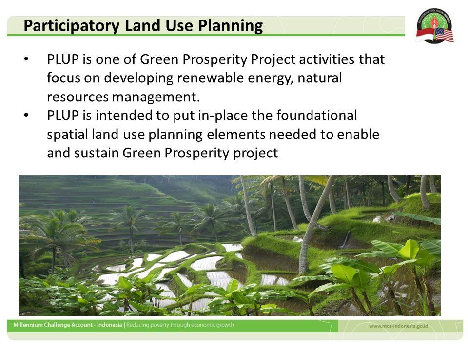Key Roles of PLUP in Green Prosperity Project