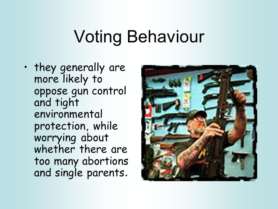 Voting Behaviour The rural voters, in contrast, hold more traditional views.