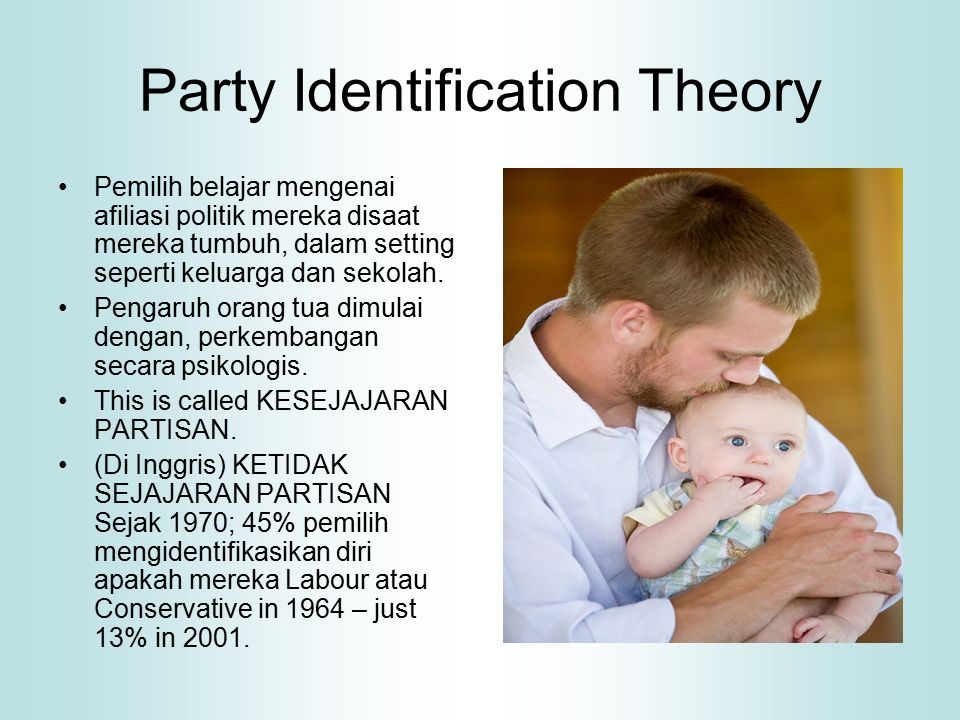 Mempertimbangkan perilaku memilih Person centred voting theories 'Rational acting' Issue voting Party leaders Economic voting Governing competence