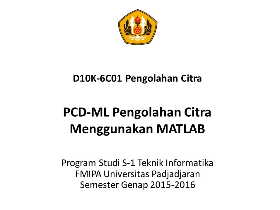 PCD-ML Pengolahan Citra Menggunakan MATLAB Feature Detection and Extraction