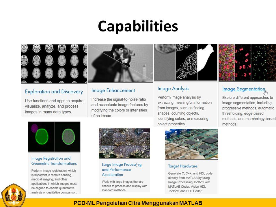 PCD-ML Pengolahan Citra Menggunakan MATLAB Capabilities