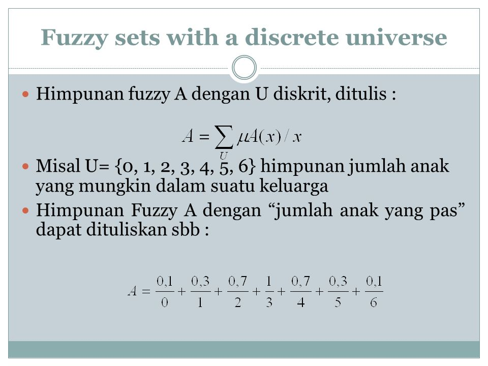 Fuzzy sets with a continuous universe X = R+ be the set of possible ages for human beings.