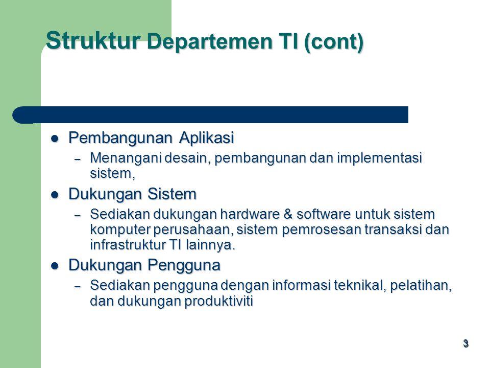 2 Departemen IT menyediakan dukungan teknikal, yang terdiri dari 6 fungsi utama: Departemen IT menyediakan dukungan teknikal, yang terdiri dari 6 fung