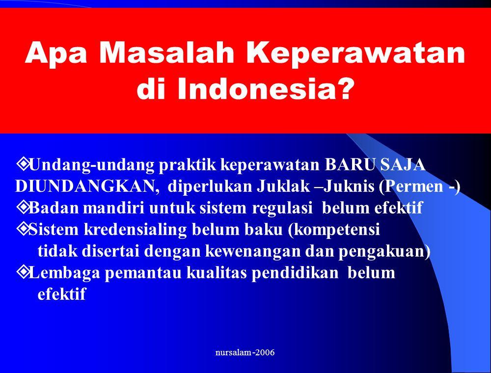 nursalam -2006 Apa Masalah Keperawatan di Indonesia.