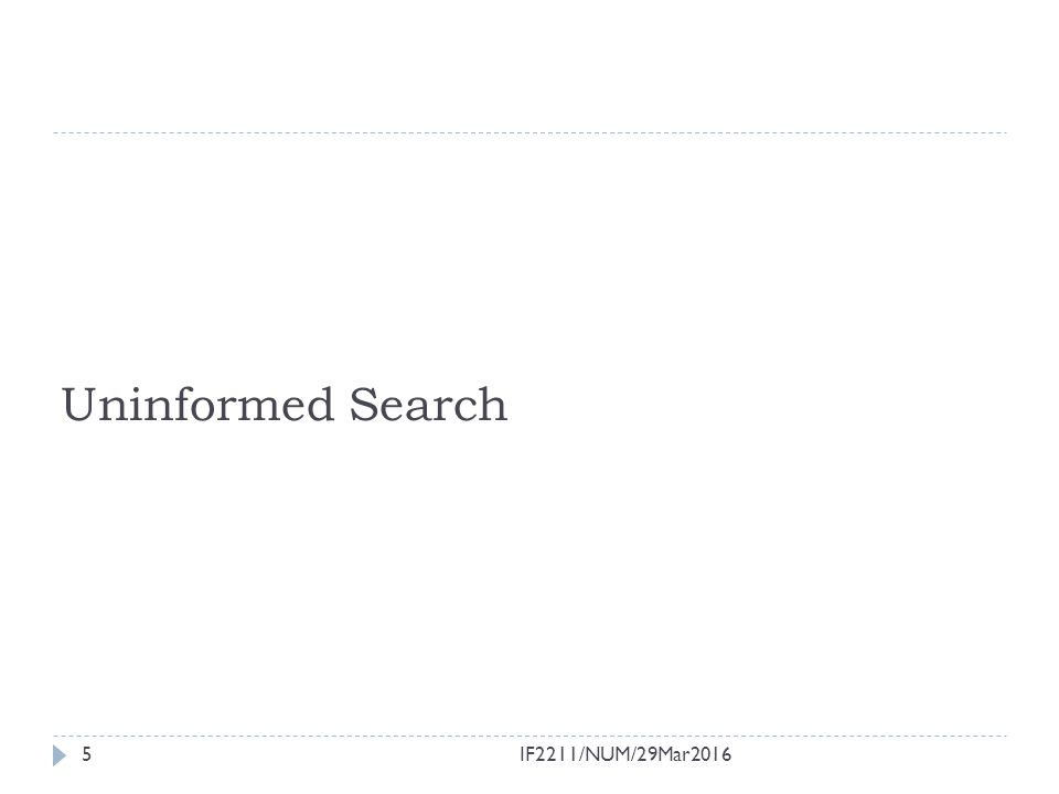 Uninformed Search 5IF2211/NUM/29Mar2016