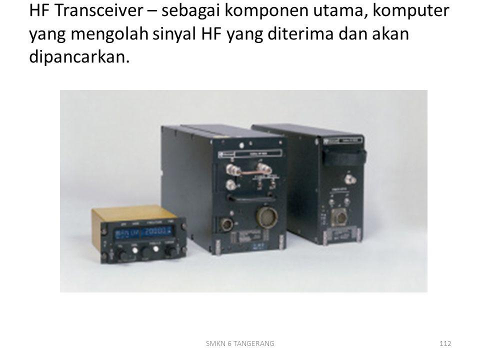 HF Transceiver – sebagai komponen utama, komputer yang mengolah sinyal HF yang diterima dan akan dipancarkan.