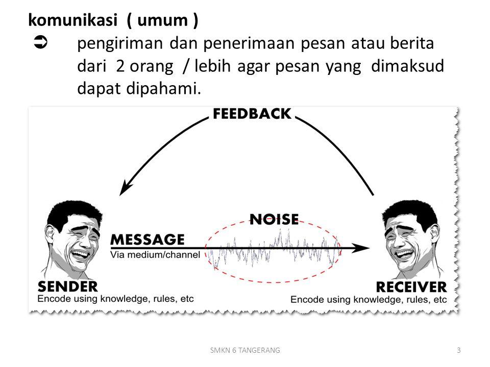 komunikasi ( umum )  pengiriman dan penerimaan pesan atau berita dari 2 orang / lebih agar pesan yang dimaksud dapat dipahami.
