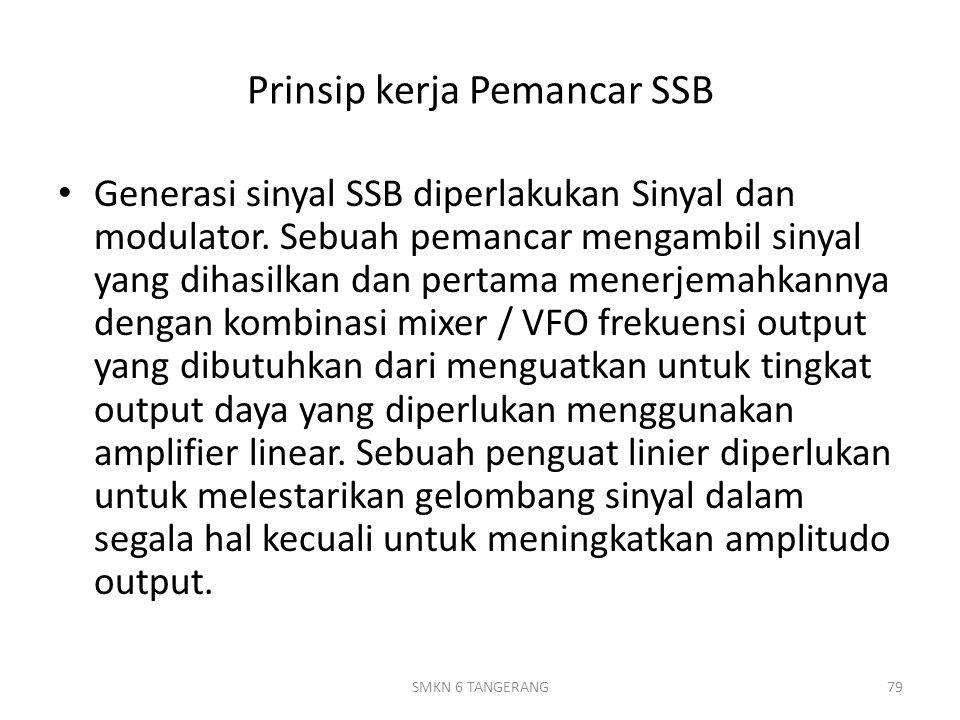 Prinsip kerja Pemancar SSB Generasi sinyal SSB diperlakukan Sinyal dan modulator.