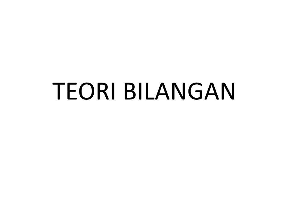 TEORI BILANGAN