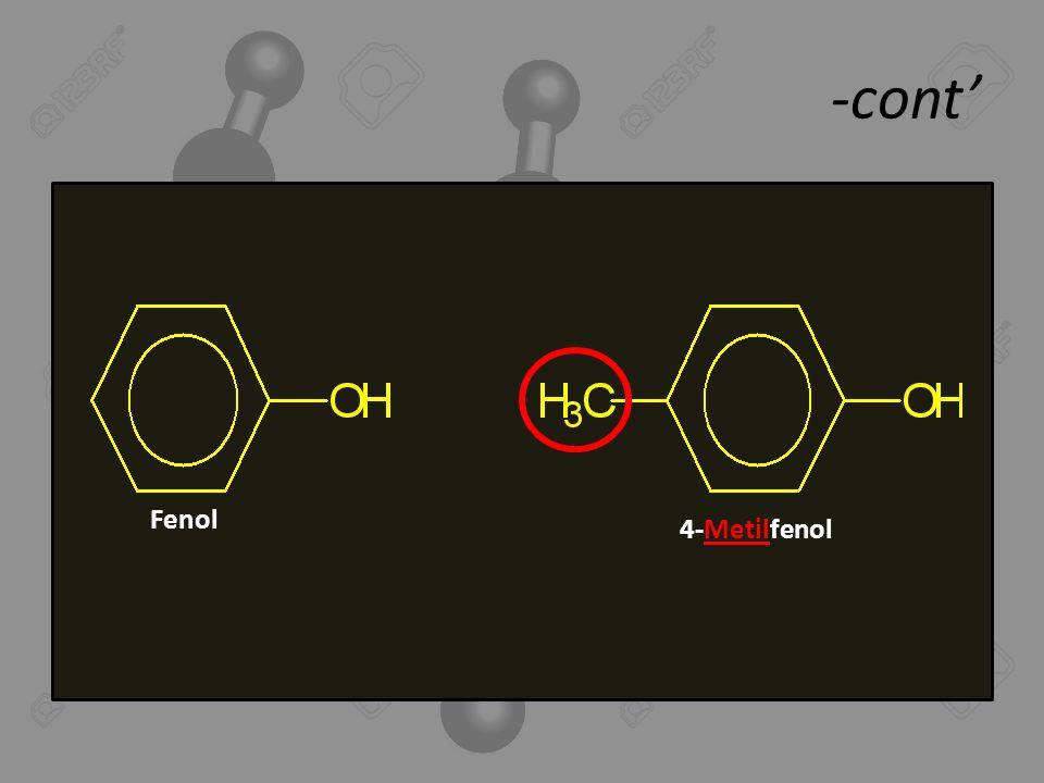-cont' Fenol 4-Metilfenol