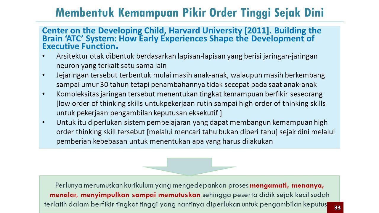 32 Proses Penilaian yang Mendukung Kreativitas Sharp, C. 2004. Developing young children's creativity: what can we learn from research?: Guru dapat me