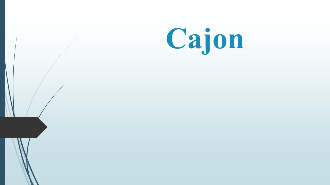 History Of Cajon  When African Slaves were brought to South-America, they were not allowed to play drums.