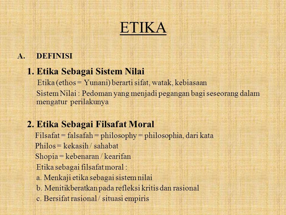 ETIKA A.DEFINISI 1.