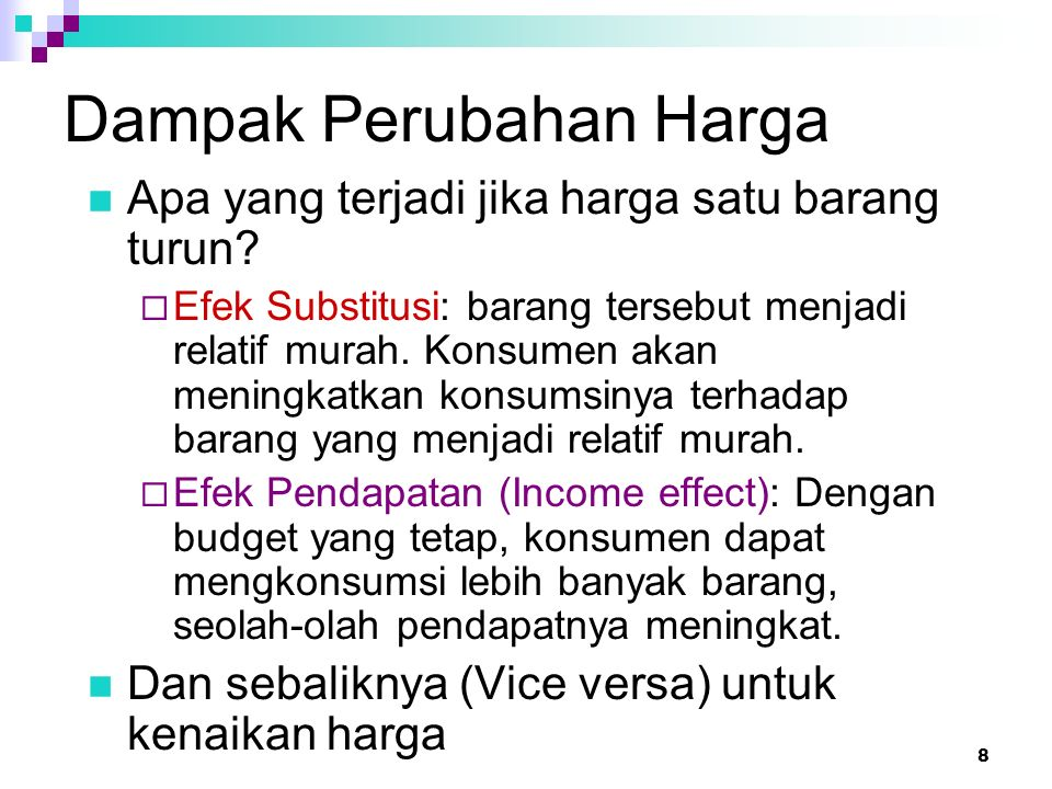 39 Slutsky's Effects for Income-Inferior Goods In general, substitution effect is greater than income effect.