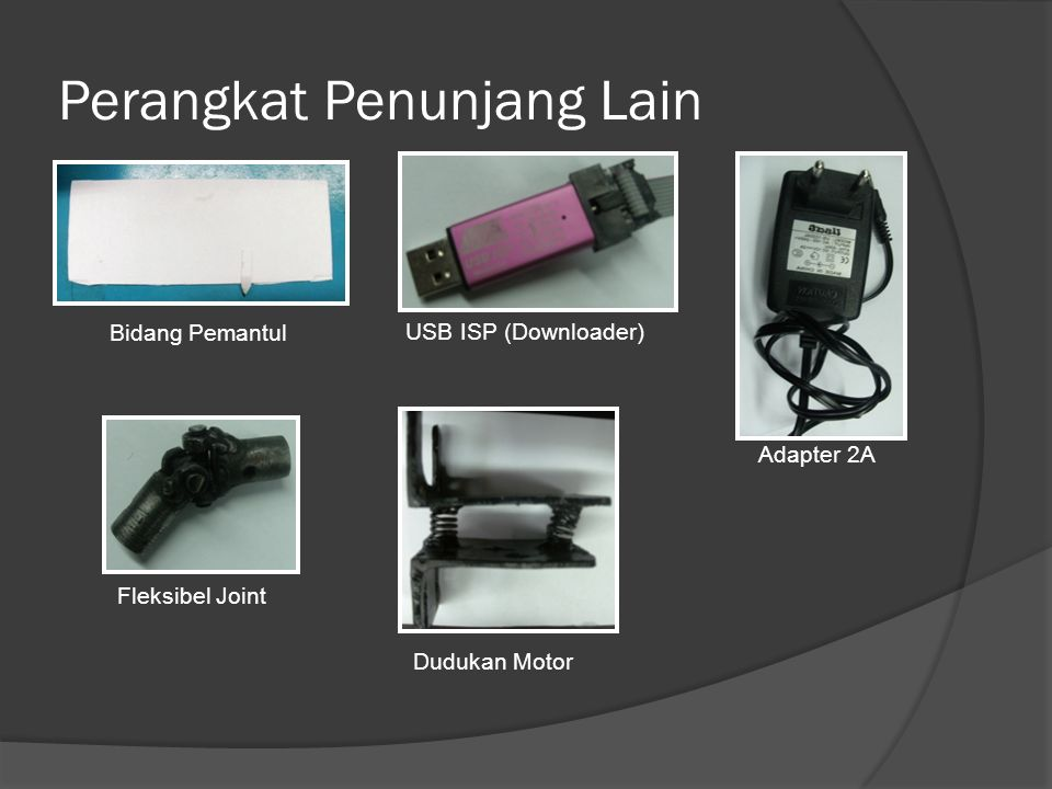 Perangkat Penunjang Lain Bidang Pemantul USB ISP (Downloader) Adapter 2A Fleksibel Joint Dudukan Motor