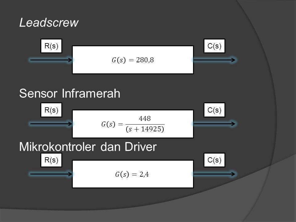 Leadscrew Sensor Inframerah Mikrokontroler dan Driver R(s)C(s)R(s)C(s)R(s)C(s)
