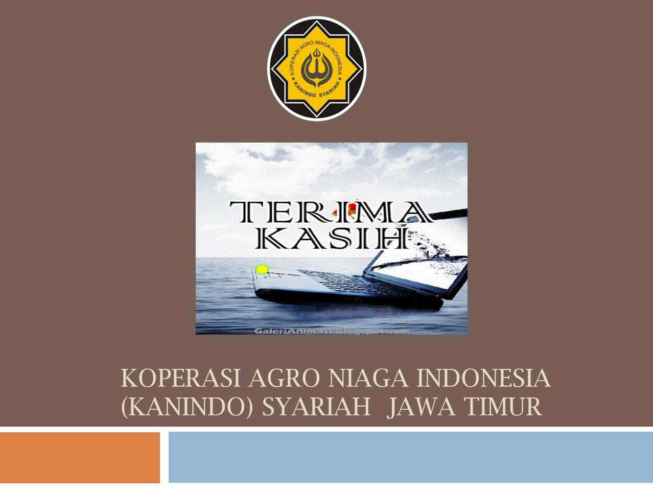 KOPERASI AGRO NIAGA INDONESIA (KANINDO) SYARIAH JAWA TIMUR