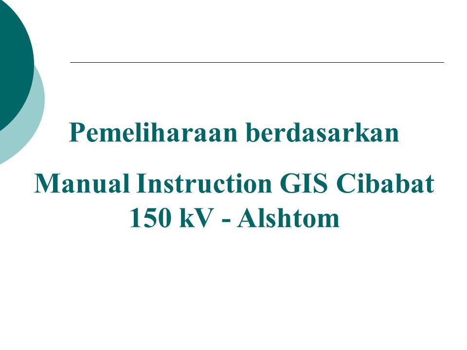 Pemeliharaan berdasarkan Manual Instruction GIS Cibabat 150 kV - Alshtom