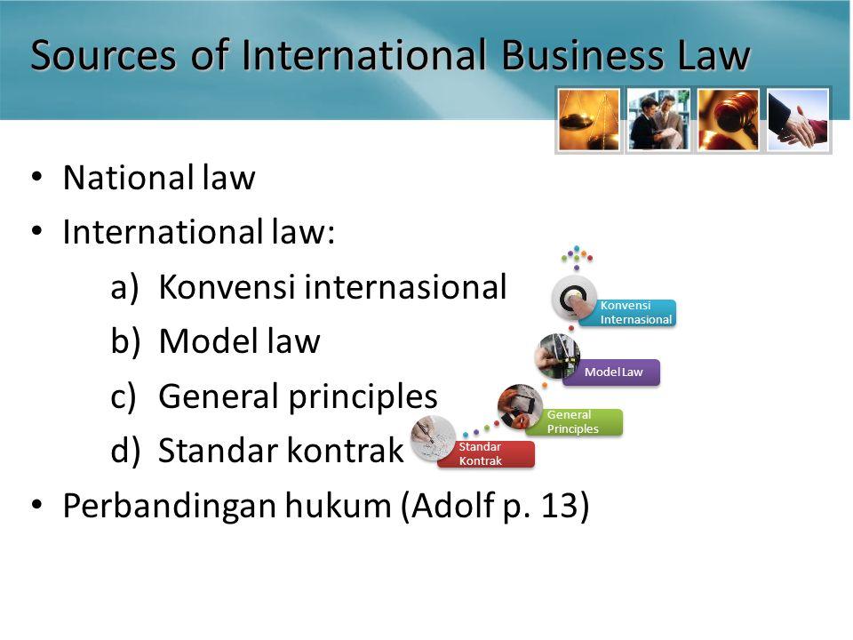 Para Pihak dalam Kontrak Komersial Internasional Kontrak internasional v.