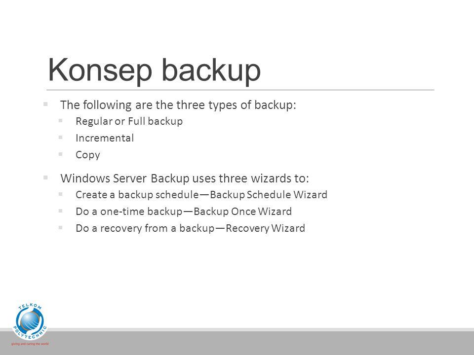 Konsep backup  Backup tool interface