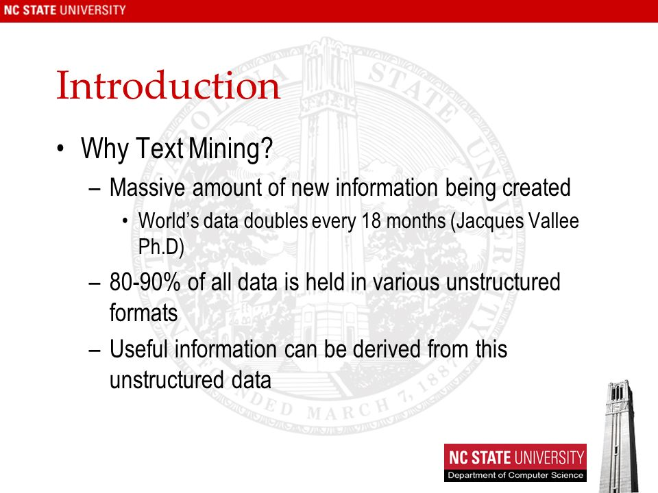 Introduction Why Text Mining.