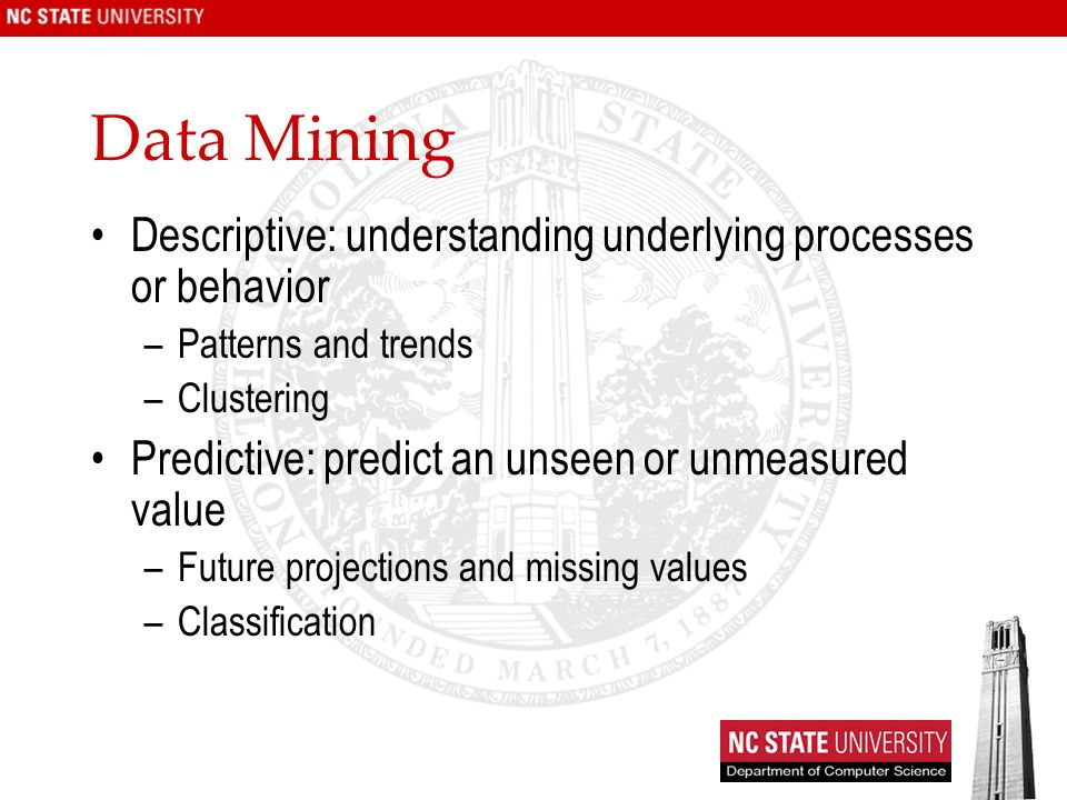 Text Mining Process Text Mining: Classification definition –Given: a collection of labeled records (training set) Each record contains a set of features (attributes), and the true class (label) –Find: a model for the class as a function of the values of the features –Goal: previously unseen records should be assigned a class as accurately as possible