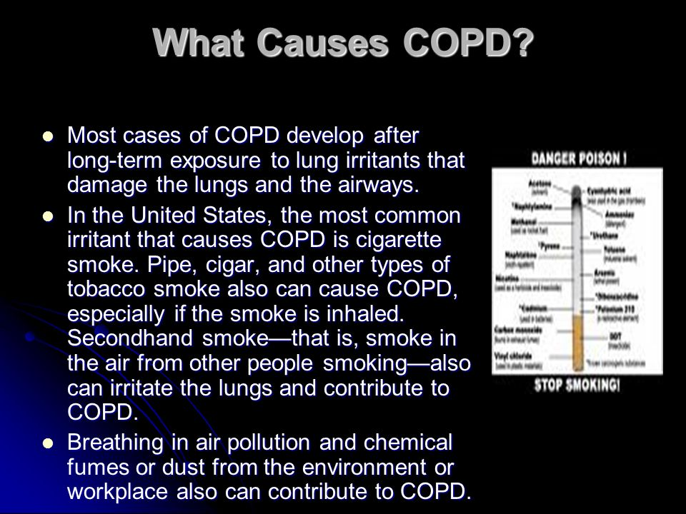 What Causes COPD.