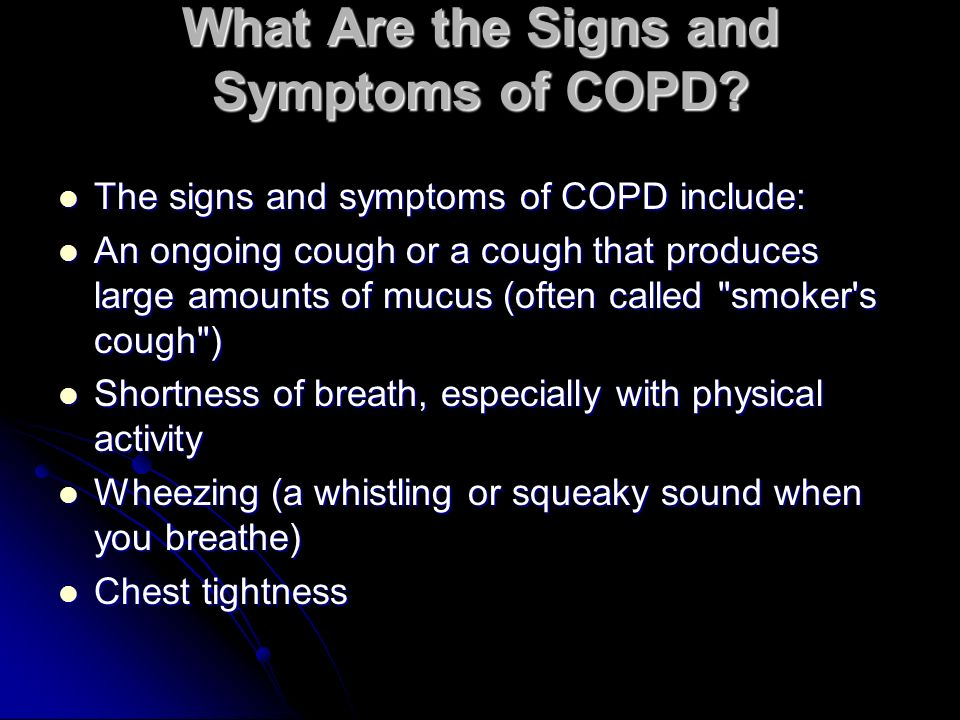 What Are the Signs and Symptoms of COPD.
