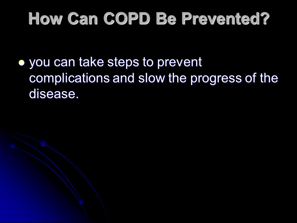 How Can COPD Be Prevented.