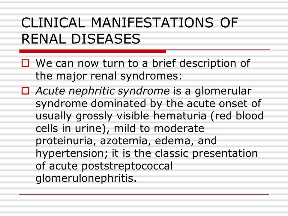 ALPORT SYNDROME  Merupakan penyakit herediter, dimana terjadi kelainan pada membran basement glomerulus di ginjal (berupa penebalan dan fibrosis).