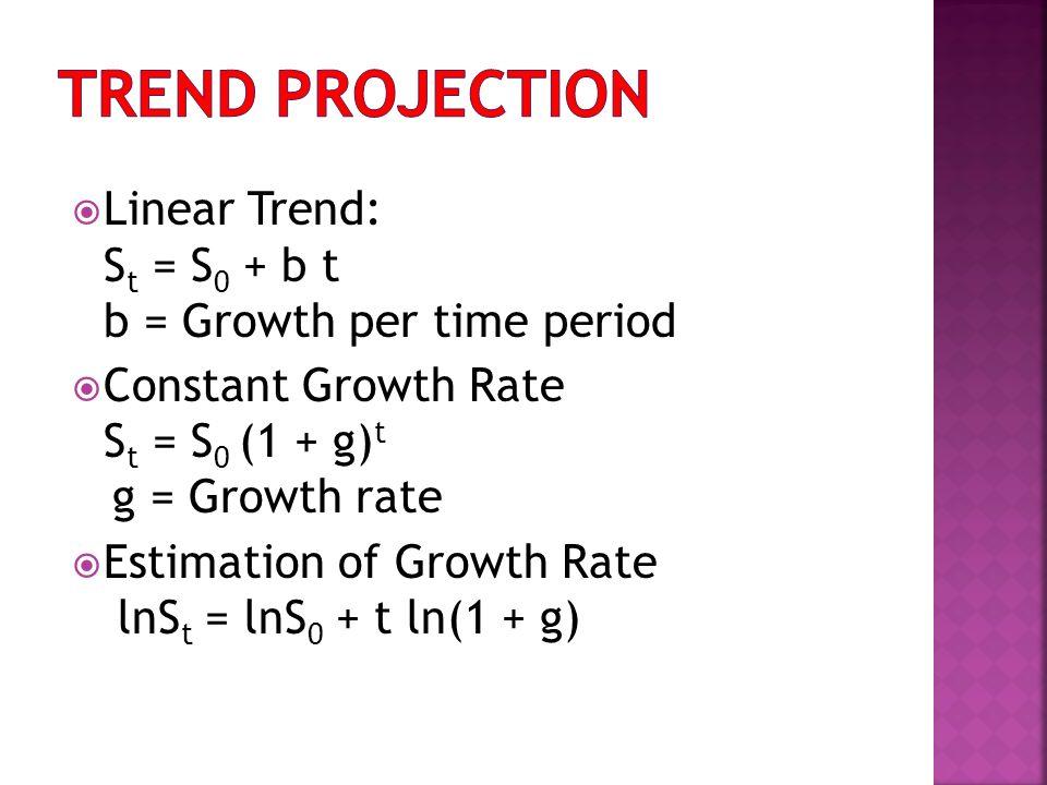 Ratio to Trend Method Actual Trend Forecast Ratio = Seasonal Adjustment = Average of Ratios for Each Seasonal Period Adjusted Forecast = Trend Forecast Seasonal Adjustment