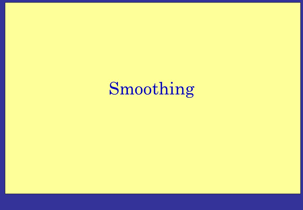 Basic Smoothing Models Moving average, weighted moving average, exponential smoothing Single and Double Smoothing First order exponential smoothing with trends and/or seasonal patterns