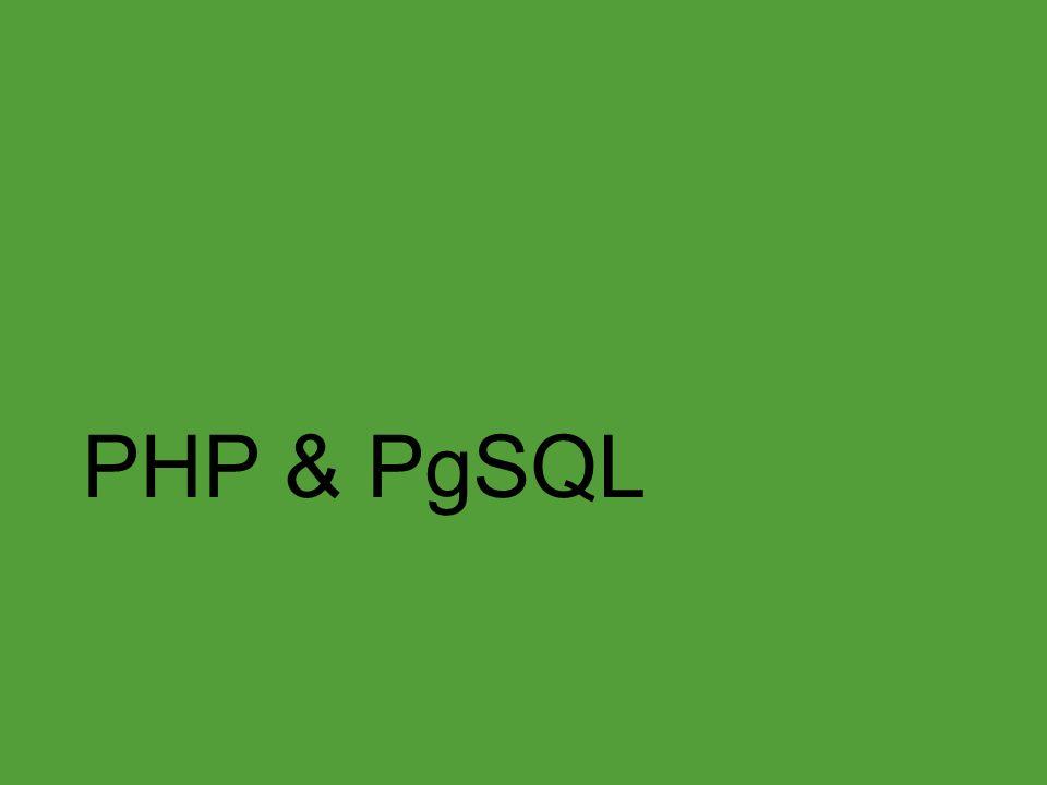 PHP & PgSQL