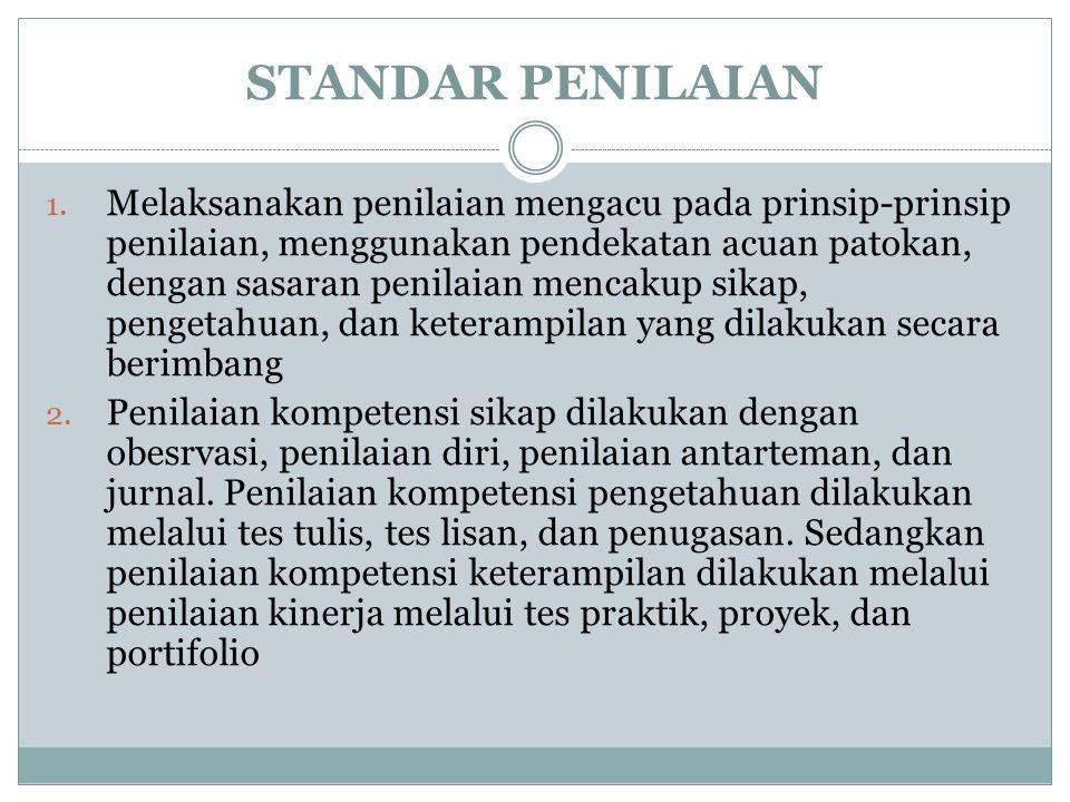 STANDAR PENILAIAN 1.