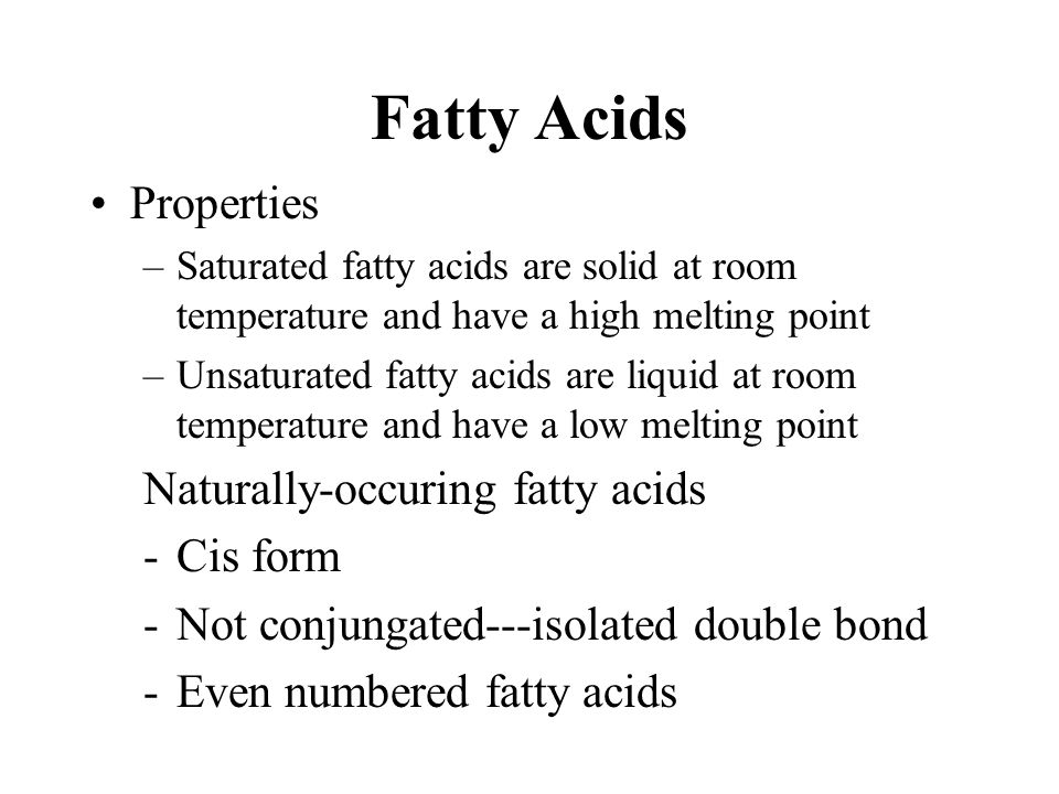 Unsaturated fatty acids Pentaenoic acid (5 double bonds) 20:5; 5,8,11,14,17  3: timnodonic acid or EPA (all-cis-5,8,11,14,17-eicosapentaenoic acid)*