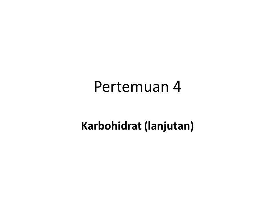 Pertemuan 4 Karbohidrat (lanjutan)