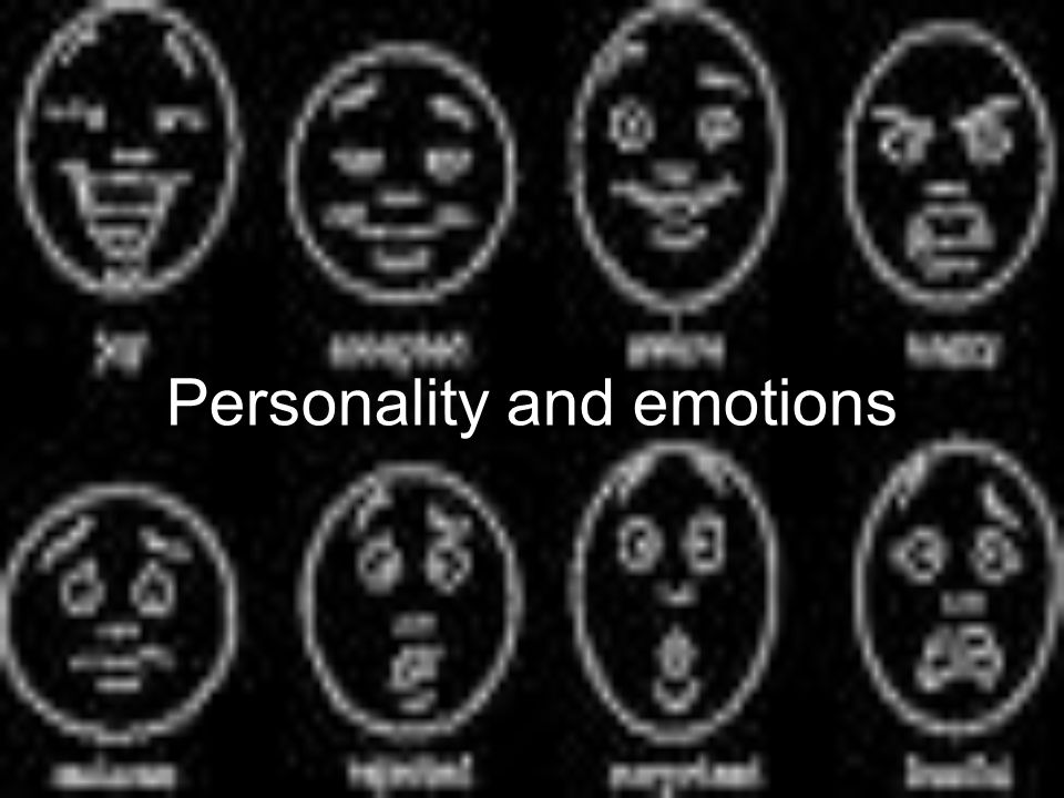 Personality and emotions