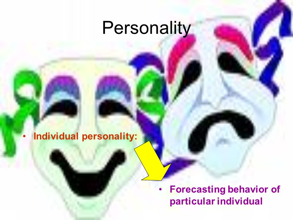 Personality Individual personality: Forecasting behavior of particular individual