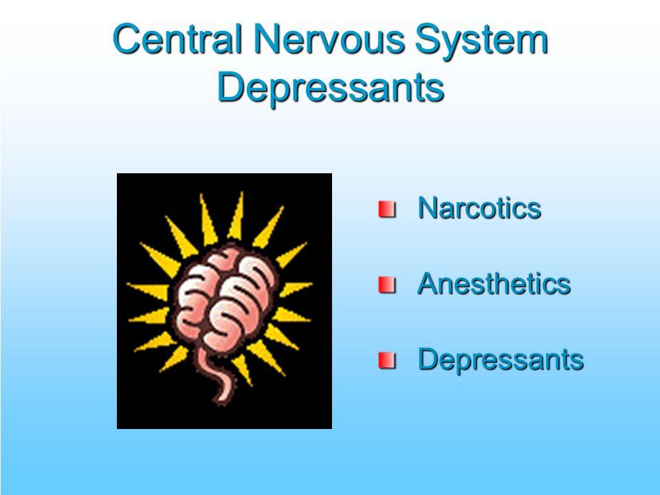 Central Nervous System Depressants NarcoticsAnestheticsDepressants