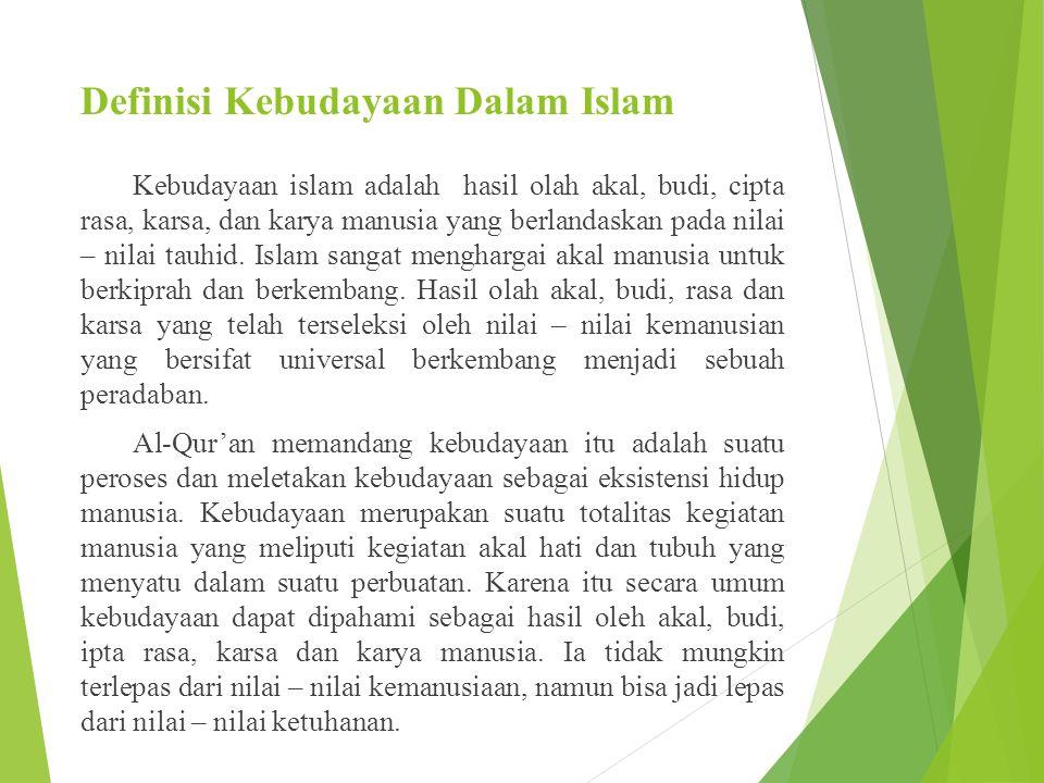 Bentuk-bentuk kebudayaan Islam