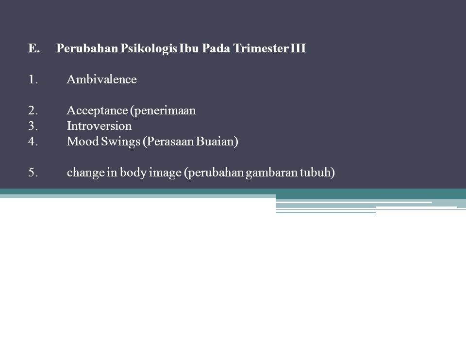 E. Perubahan Psikologis Ibu Pada Trimester III 1.