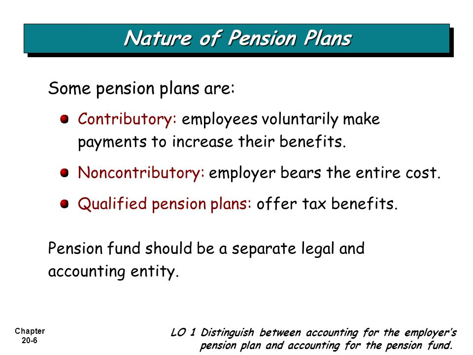 Chapter 20-17 Companies do not recognize two main items in the accounts and in the financial statements: Pension Items Not Recognized LO 5 Use a worksheet for employer's pension plan entries.