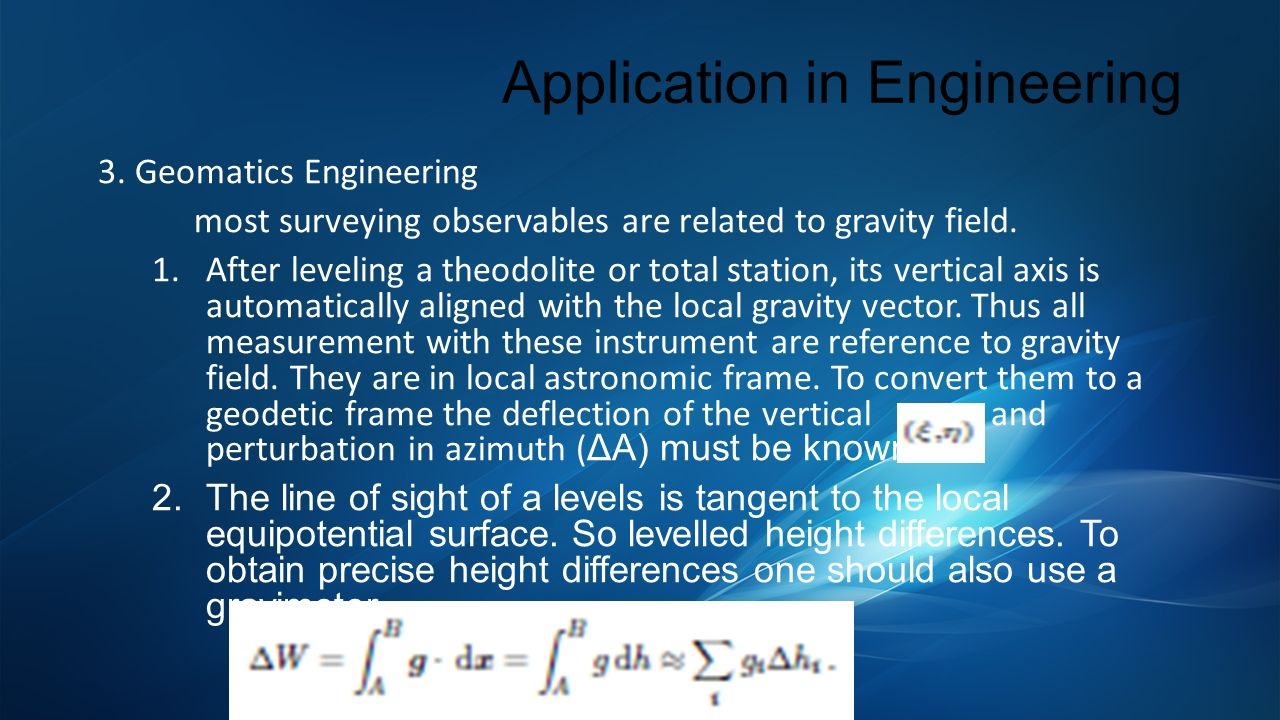 Application in Engineering 3.