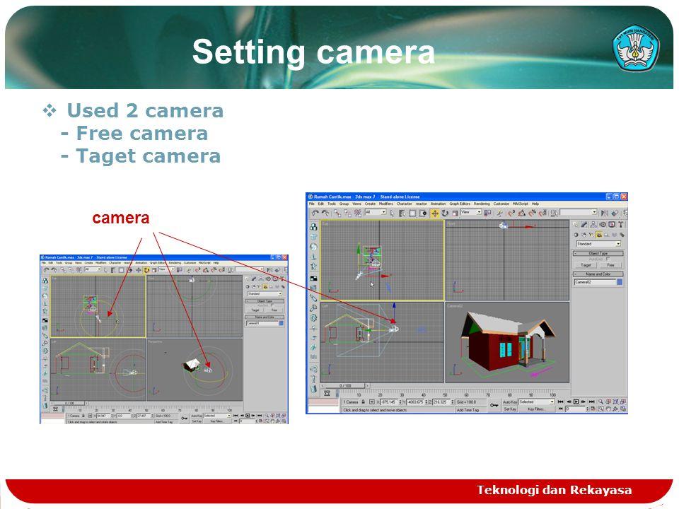 Teknologi dan Rekayasa Setting camera  Used 2 camera - Free camera - Taget camera camera