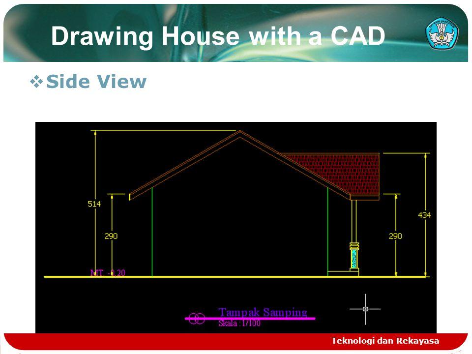 Teknologi dan Rekayasa Roof plan  Setting UCS  Polyline command  Extrude