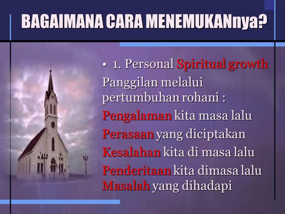 1.Personal Spiritual growth1.