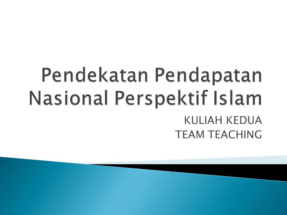 KULIAH KEDUA TEAM TEACHING