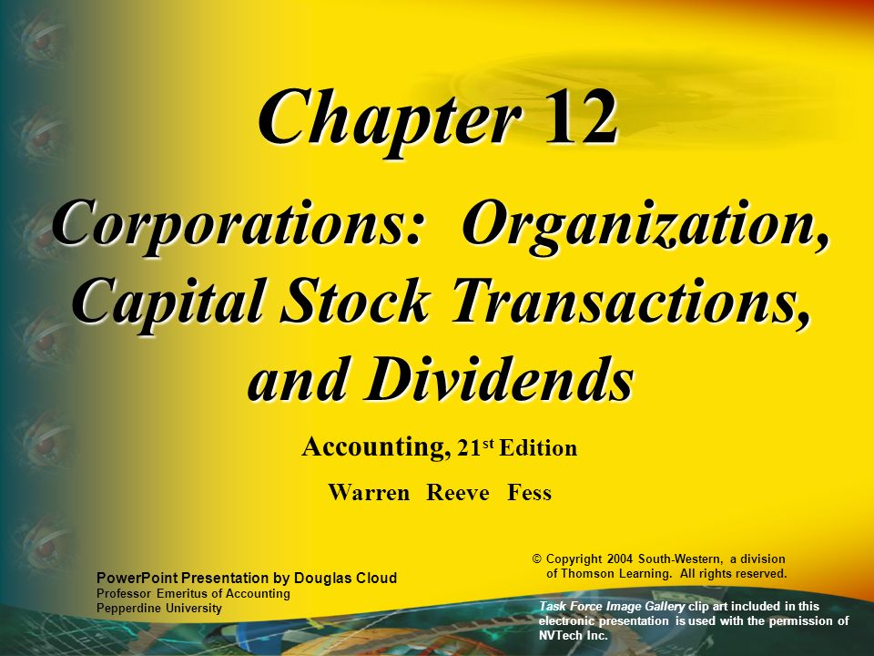 Accounting for Stock Dividends Jan.